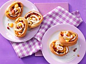 Peach buns with cranberries