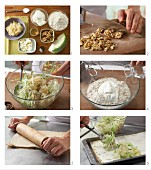 How to prepare tarte flambée with cabbage and walnuts