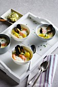 Seafood chowder with whisky butter