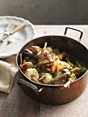 Wild rabbit stew with carrots