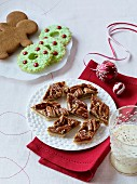 Pecan nut gingerbread, Christmas wreath biscuits and gingerbread men