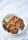 Sirloin steak with miso butter