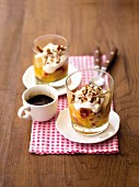 Lemon curd trifles