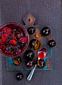 Damson chutney with star anise