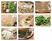 How to prepare almond nut roast on a bed of leaf spinach