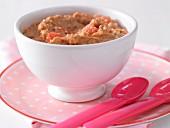 Wassermelonen-Keks-Brei mit Haferflocken