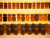 Bear-shaped honey bottles