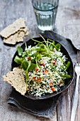 Cauliflower couscous with peppers