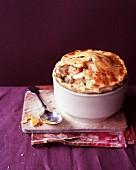 Chicken pot pie with leek