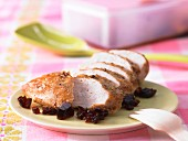 Chicken breast with soy & lime jelly