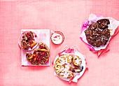 Verschiedene Schneckenkuchen