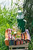 Limetten-Eistee fürs Picknick