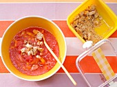Frucht-Knusper-Kaltschale