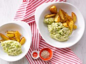 Brussels sprout purée with sesame seed potatoes