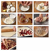 How to make cherry streusel (crumble) cake with cashew nuts