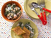 Creamy chard with semolina slices