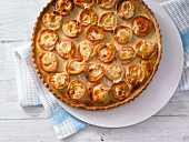 Apricot & yoghurt tart with honey