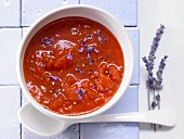 Tomato & lavender soup