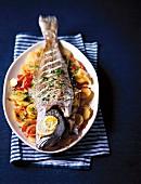 Spanish-style roasted fish