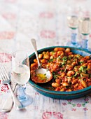 Butterbeans baked with tomato and fennel