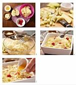 How to prepare sauerkraut & apple gratin sprinkled with flaked almonds