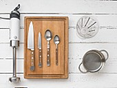 Kitchen utensils for preparing almond milk