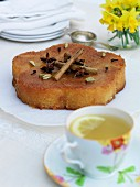 Dairy-free orange cake with spices