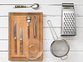 Kitchen utensils for making spreads