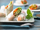Rice paper rolls with vegetables