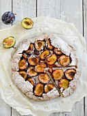 A buckwheat pastry plum tart