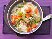 Greek rice with carrots and celery