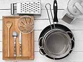 Kitchen utensils for pasta dishes