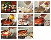 How to prepare tomato soup with meatballs