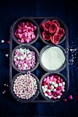 Sugar decorations for cupcakes (Valentine's Day)
