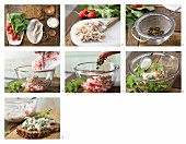 How to prepare soused herring tartare with radish