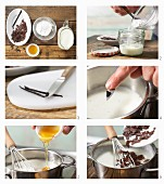 How to prepare vanilla pudding with chocolate flakes