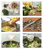 How to prepare potatoes ina creamy sauce with broccoli and pumpkin seeds