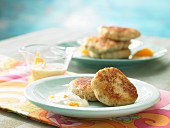 Parsnip fritters with orange dip