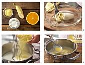 Polentabrei mit Orangensaft zubereiten