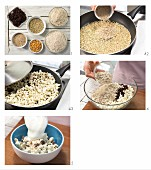 How to prepare popcorn muesli with raisins