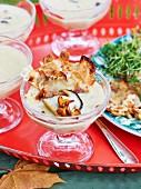 Wild mushroom soup with Jerusalem artichoke crisps