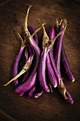 Fresh aubergines