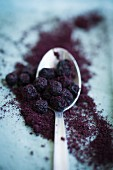 Dried aronia berries and acai powder (superfoods)