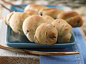 Olive campfire bread