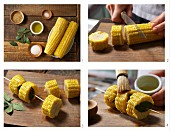 How to prepare sweetcorn kebabs