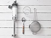 Kitchen utensils for preparing chickpea dip