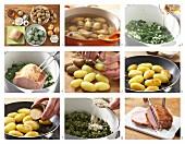 Grünkohl mit Kassler und Röstkartoffeln zubereiten