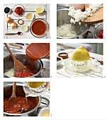 How to prepare hot tomato sauce with sambal oelek