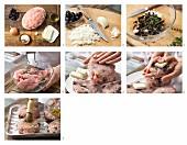 Gefüllte Putenhacksteaks mit Schafskäse zubereiten