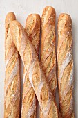 Several baguettes (seen from above)